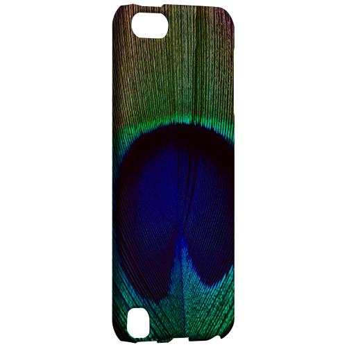 Geeks Designer Line (GDL) Slim Hard Case for Apple iPod Touch 5 - Colorful Peacock Feather