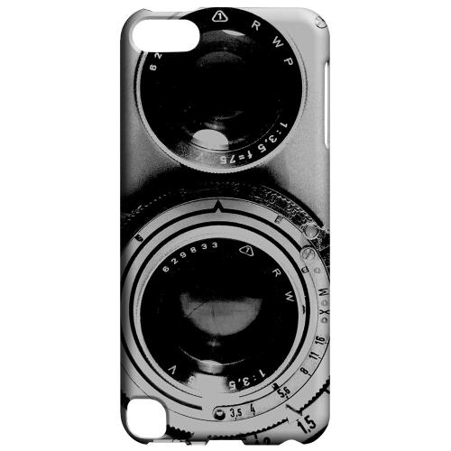 Geeks Designer Line (GDL) Slim Hard Case for Apple iPod Touch 5 - Black Film Noir Camera