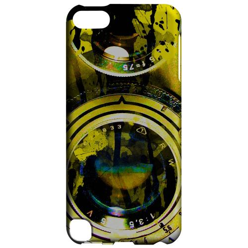 Geeks Designer Line (GDL) Slim Hard Case for Apple iPod Touch 5 - Chaotic Yellow Camera