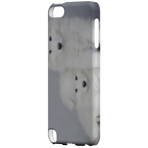 Geeks Designer Line (GDL) Slim Hard Case for Apple iPod Touch 5 - Samoyed Puppies