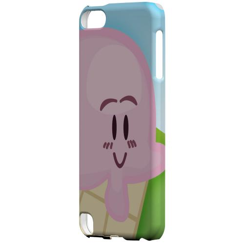 Geeks Designer Line (GDL) Slim Hard Case for Apple iPod Touch 5 - Cute Pink Ice Cream Cone