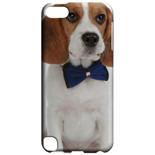 Geeks Designer Line (GDL) Slim Hard Case for Apple iPod Touch 5 - Beagle with Bow Tie