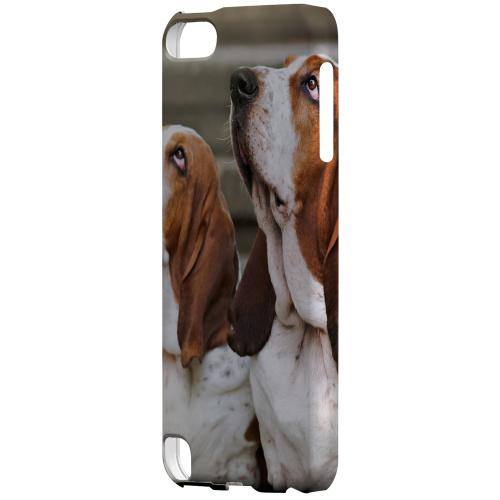Geeks Designer Line (GDL) Slim Hard Case for Apple iPod Touch 5 - Bassett Hounds