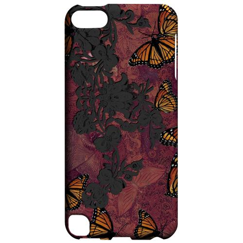 Geeks Designer Line (GDL) Slim Hard Case for Apple iPod Touch 5 - Butterflies on Parade
