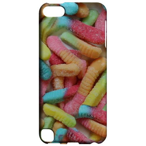 Geeks Designer Line (GDL) Slim Hard Case for Apple iPod Touch 5 - Multi-Colored Gummy Worms