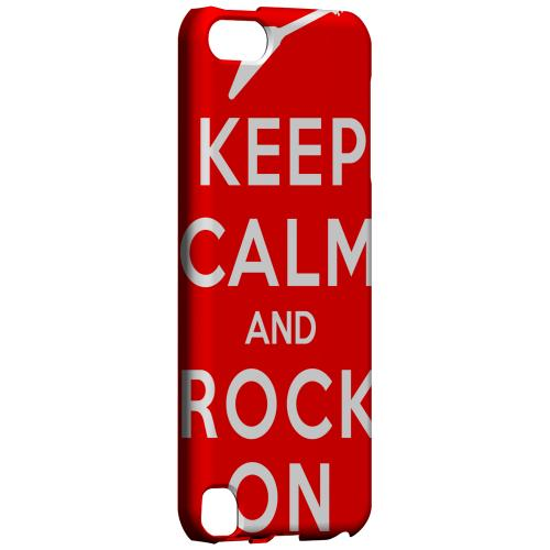 Geeks Designer Line (GDL) Slim Hard Case for Apple iPod Touch 5 - Red Rock On