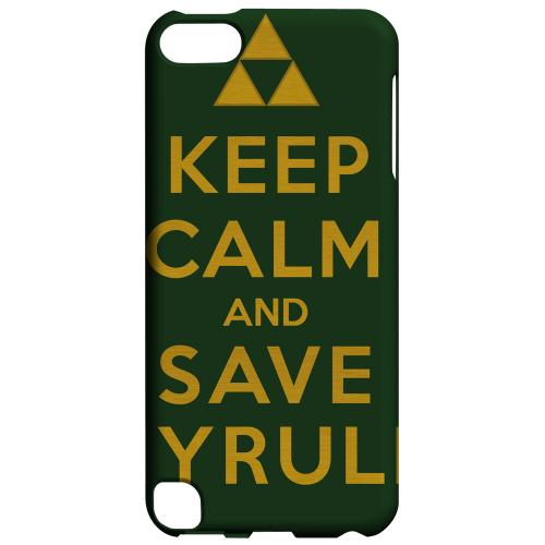 Geeks Designer Line (GDL) Slim Hard Case for Apple iPod Touch 5 - Green Save Hyrule