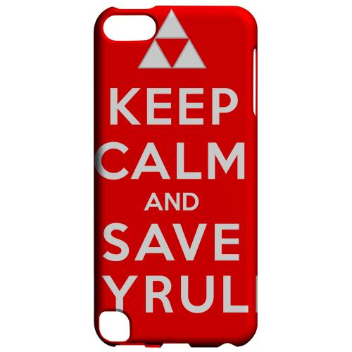 Geeks Designer Line (GDL) Slim Hard Case for Apple iPod Touch 5 - Red Save Hyrule