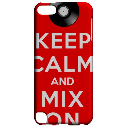 Geeks Designer Line (GDL) Slim Hard Case for Apple iPod Touch 5 - Red Mix On