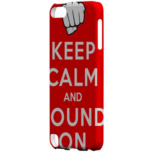 Geeks Designer Line (GDL) Slim Hard Case for Apple iPod Touch 5 - Red Pound On