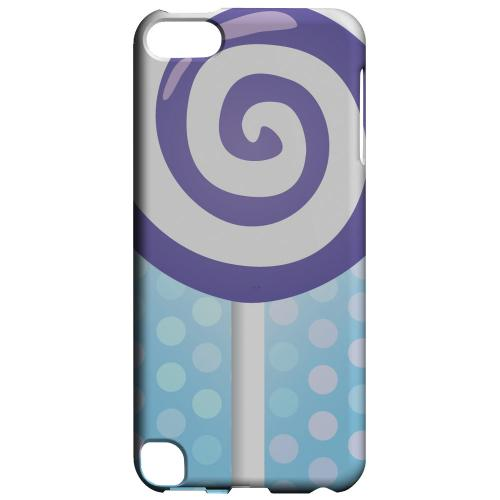 Geeks Designer Line (GDL) Slim Hard Case for Apple iPod Touch 5 - Purple Lollipop