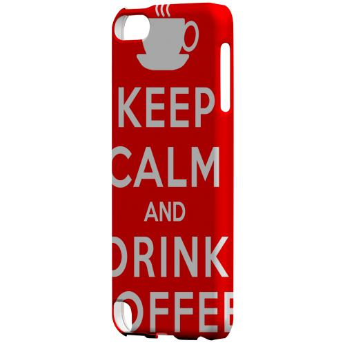 Geeks Designer Line (GDL) Slim Hard Case for Apple iPod Touch 5 - Red Drink Coffee