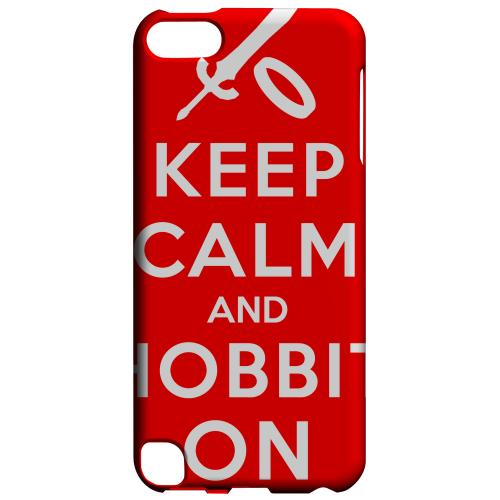Geeks Designer Line (GDL) Slim Hard Case for Apple iPod Touch 5 - Red Hobbit On
