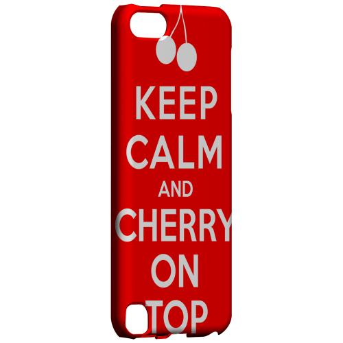 Geeks Designer Line (GDL) Slim Hard Case for Apple iPod Touch 5 - Red Cherry On Top