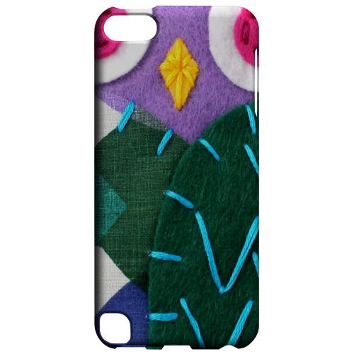 Geeks Designer Line (GDL) Slim Hard Case for Apple iPod Touch 5 - Purple/ Green Owl