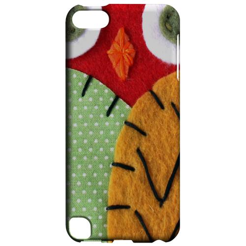 Geeks Designer Line (GDL) Slim Hard Case for Apple iPod Touch 5 - Red/ Orange Owl