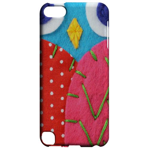 Geeks Designer Line (GDL) Slim Hard Case for Apple iPod Touch 5 - Sky Blue/ Pink Owl