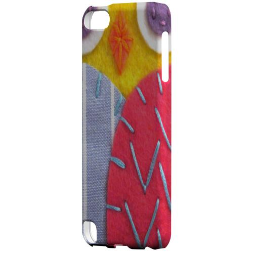 Geeks Designer Line (GDL) Slim Hard Case for Apple iPod Touch 5 - Yellow/ Pink Owl
