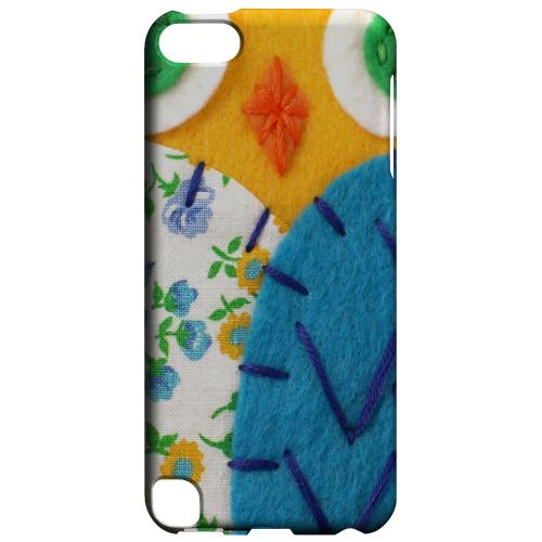 Geeks Designer Line (GDL) Slim Hard Case for Apple iPod Touch 5 - Gold/ Blue Owl
