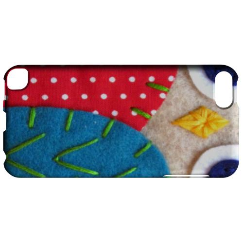 Geeks Designer Line (GDL) Slim Hard Case for Apple iPod Touch 5 - White/ Blue Owl