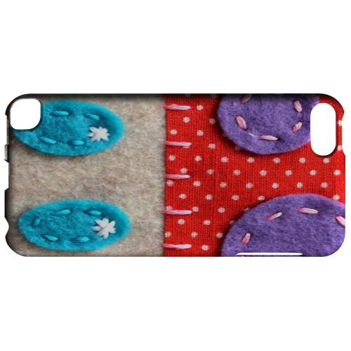 Geeks Designer Line (GDL) Slim Hard Case for Apple iPod Touch 5 - Red/ Purple Mushroom