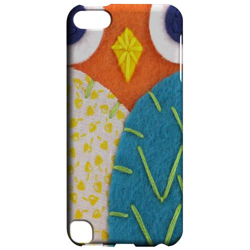 Geeks Designer Line (GDL) Slim Hard Case for Apple iPod Touch 5 - Orange/ Blue Owl