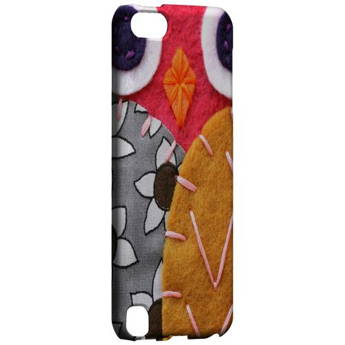 Geeks Designer Line (GDL) Slim Hard Case for Apple iPod Touch 5 - Hot Pink/ Dark Blue Owl