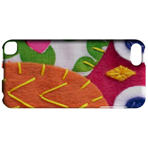 Geeks Designer Line (GDL) Slim Hard Case for Apple iPod Touch 5 - Hot Pink/ Green Owl