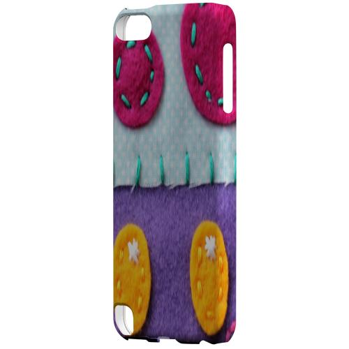 Geeks Designer Line (GDL) Slim Hard Case for Apple iPod Touch 5 - Purple/ Pink Mushroom