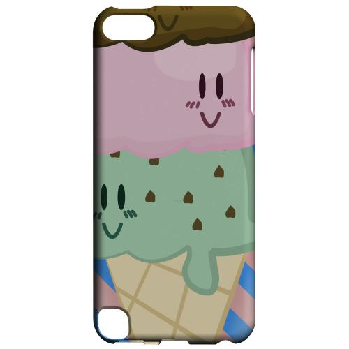 Geeks Designer Line (GDL) Slim Hard Case for Apple iPod Touch 5 - Triple Scoop Ice Cream Cone