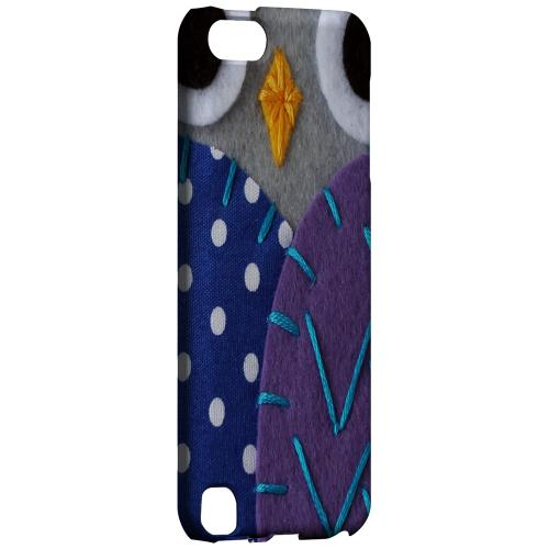 Geeks Designer Line (GDL) Slim Hard Case for Apple iPod Touch 5 - Gray/ Purple Owl