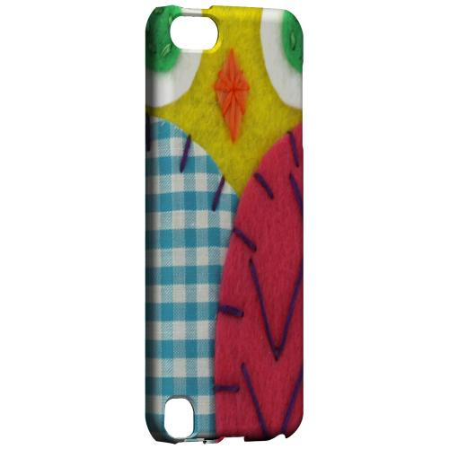 Geeks Designer Line (GDL) Slim Hard Case for Apple iPod Touch 5 - Yellow/ Maroon Owl