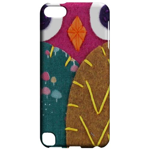 Geeks Designer Line (GDL) Slim Hard Case for Apple iPod Touch 5 - Hot Pink/ Brown Owl