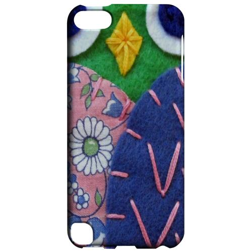 Geeks Designer Line (GDL) Slim Hard Case for Apple iPod Touch 5 - Green/ Blue Owl