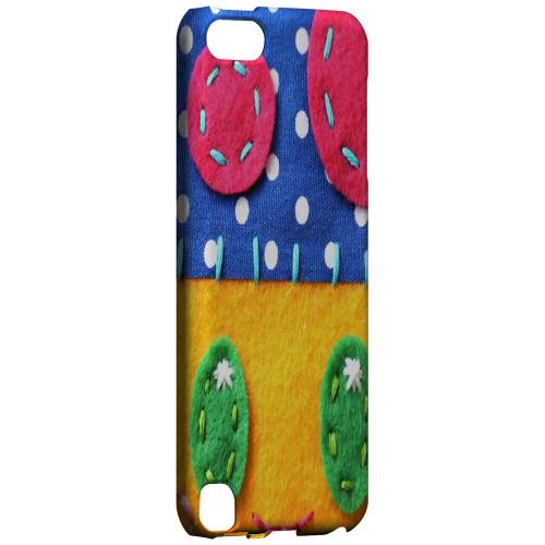 Geeks Designer Line (GDL) Slim Hard Case for Apple iPod Touch 5 - Blue/ Yellow Mushroom