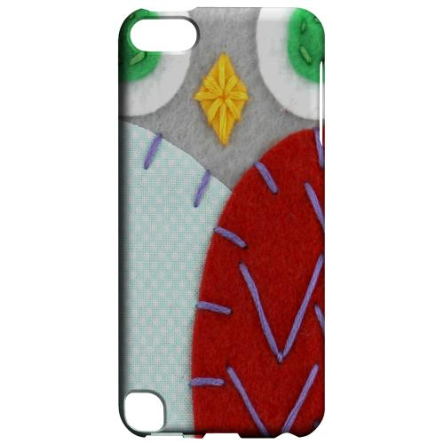 Geeks Designer Line (GDL) Slim Hard Case for Apple iPod Touch 5 - Gray/ Red Owl