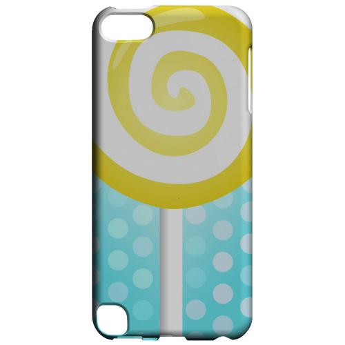 Geeks Designer Line (GDL) Slim Hard Case for Apple iPod Touch 5 - Yellow Lollipop