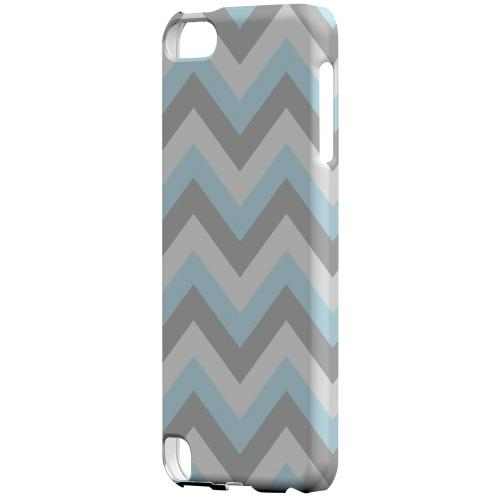 Geeks Designer Line (GDL) Slim Hard Case for Apple iPod Touch 5 - Blue on Gray on White