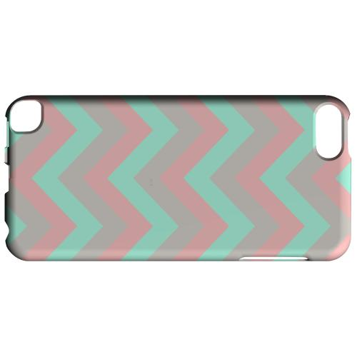 Geeks Designer Line (GDL) Slim Hard Case for Apple iPod Touch 5 - Green on Pink on Gray