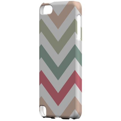 Geeks Designer Line (GDL) Slim Hard Case for Apple iPod Touch 5 - Green/ Red on White