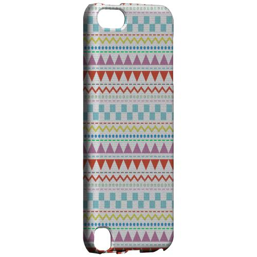 Geeks Designer Line (GDL) Slim Hard Case for Apple iPod Touch 5 - Multi-Shapes & Colors on White