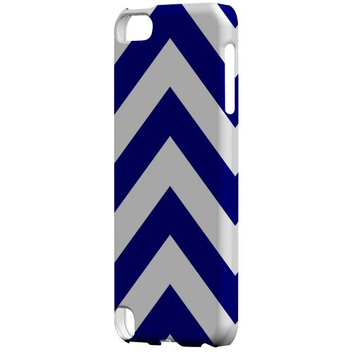 Geeks Designer Line (GDL) Slim Hard Case for Apple iPod Touch 5 - Navy Blue on White