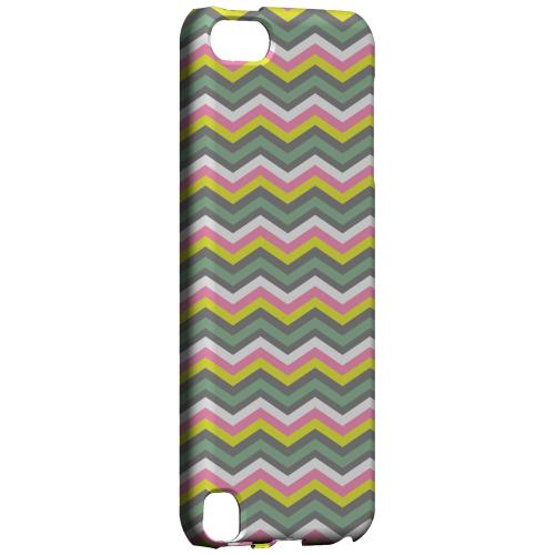Geeks Designer Line (GDL) Slim Hard Case for Apple iPod Touch 5 - Green/ Yellow Dots w/ Pink & Gray