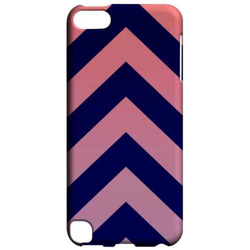 Geeks Designer Line (GDL) Slim Hard Case for Apple iPod Touch 5 - Pink/ Navy Blue Gradient