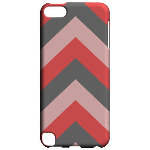 Geeks Designer Line (GDL) Slim Hard Case for Apple iPod Touch 5 - Red on Gray on Pink