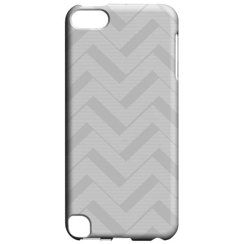 Geeks Designer Line (GDL) Slim Hard Case for Apple iPod Touch 5 - Light Gray/ White 3D
