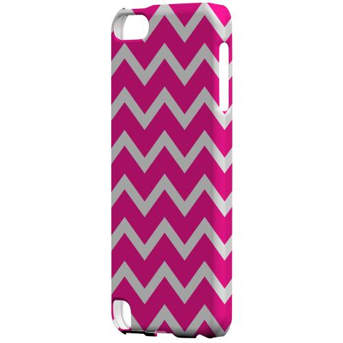 Geeks Designer Line (GDL) Slim Hard Case for Apple iPod Touch 5 - White on Hot Pink
