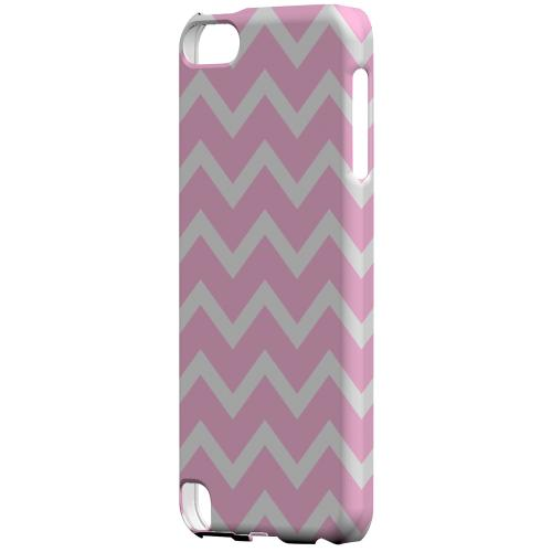 Geeks Designer Line (GDL) Slim Hard Case for Apple iPod Touch 5 - White on Pink