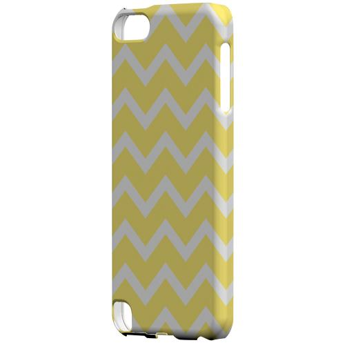 Geeks Designer Line (GDL) Slim Hard Case for Apple iPod Touch 5 - White on Yellow