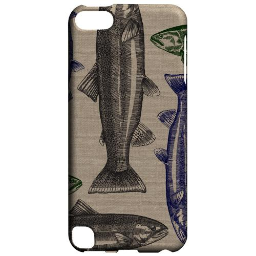 Geeks Designer Line (GDL) Slim Hard Case for Apple iPod Touch 5 - Trout Print